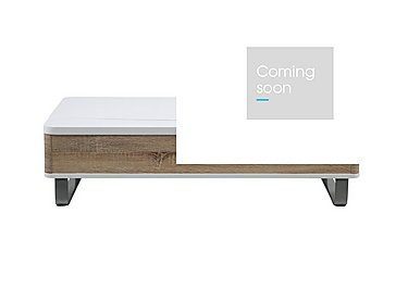 Elevate Storage Coffee Table in High Gloss White & Sonoma Oak on Furniture Village