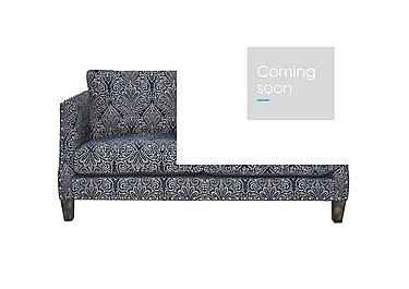 Genevieve 2 Seater Fabric Sofa with Stud Details in Garbo Damask Midnight Bg on Furniture Village