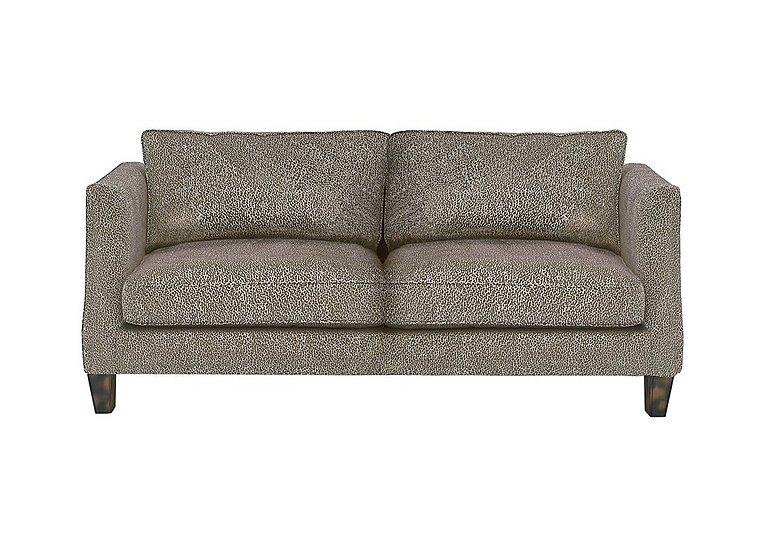 Genevieve 3 Seater Fabric Sofa in Garbo Mosaic Truffle Bg on Furniture Village