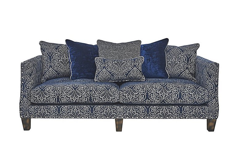 Genevieve 4 Seater Fabric Pillow Back Sofa With Stud Details