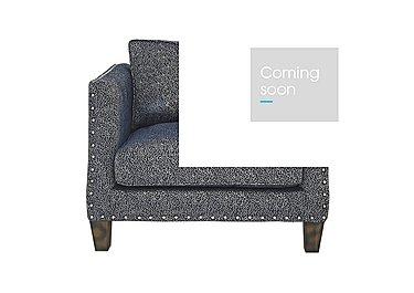 Genevieve Fabric Snuggler Armchair with Stud Details in Garbo Mosaic Midnight Bg on Furniture Village