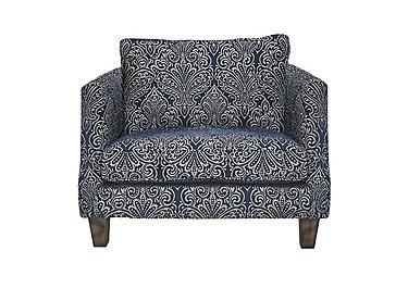 Genevieve Fabric Snuggler Armchair in Garbo Damask Midnight Bg on Furniture Village