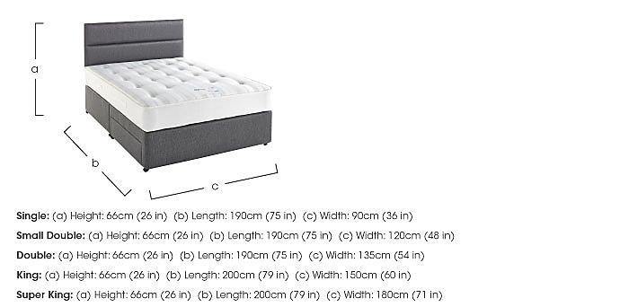 Myerpaedic Ortho Pocket 800 Divan Set in  on Furniture Village