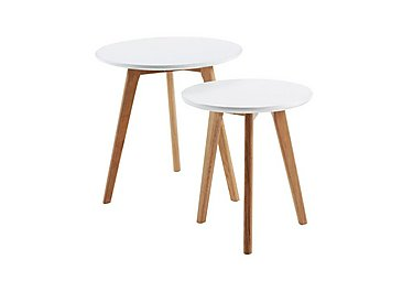 Astrid Nest of Tables in White on Furniture Village