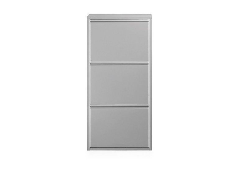 Felix Small 3 Drawer Shoe Cabinet in Grey on Furniture Village