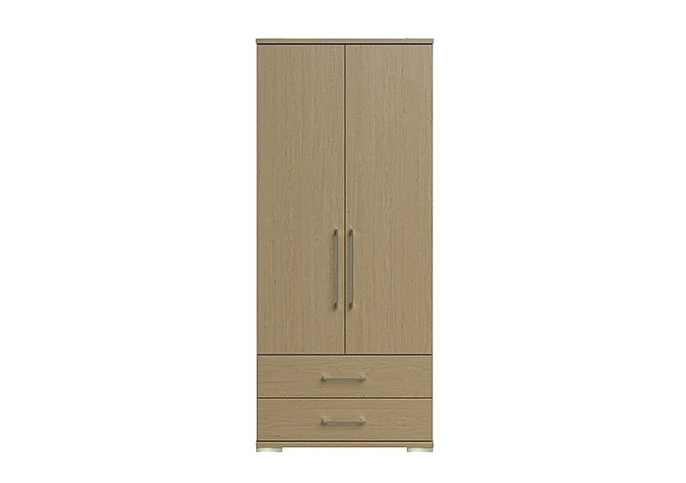Amalfi 2 Door Gents Wardrobe in Aoov Odessa Oak/Oak Woodgrain on Furniture Village