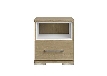 Amalfi 1 Drawer Nightstand in Aoov Odessa Oak/Oak Woodgrain on Furniture Village