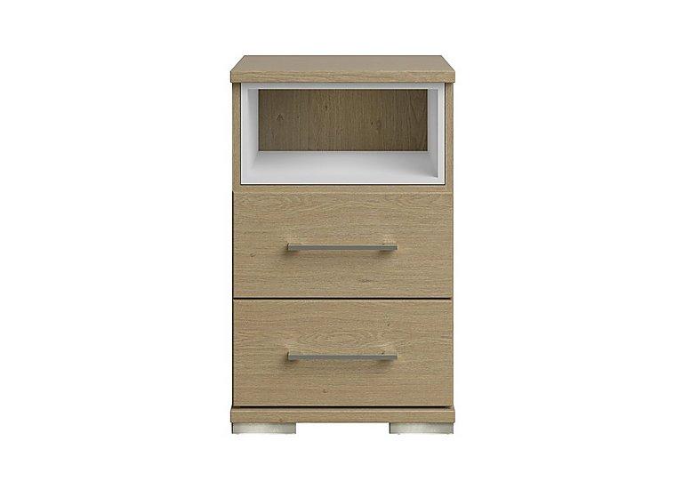 Amalfi 2 Drawer Nightstand in Aoov Odessa Oak/Oak Woodgrain on Furniture Village