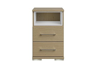Amalfi 2 Drawer Nightstand in Aoov Odessa Oak/Oak Woodgrain on Furniture Village
