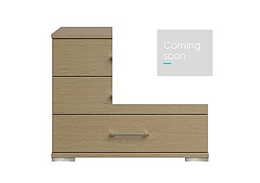 Amalfi 3 Drawer Large Chest in Aoov Odessa Oak/Oak Woodgrain on Furniture Village