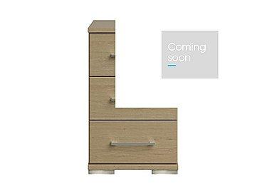 Amalfi 3 Drawer Narrow Chest in Aoov Odessa Oak/Oak Woodgrain on Furniture Village