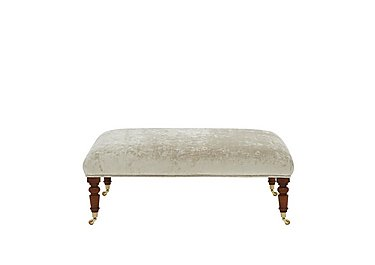 Windsor Fabric Footstool in Champagne Castle Velvet on Furniture Village