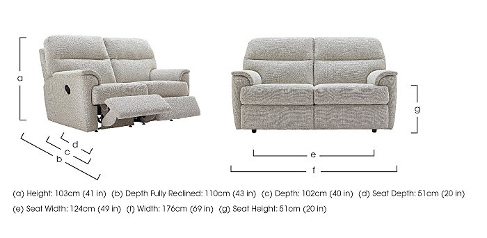Watson 2 Seater Fabric Recliner Sofa in  on Furniture Village