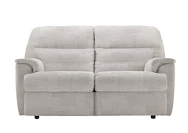 Watson 2 Seater Fabric Recliner Sofa in C008 Checkers Putty on Furniture Village
