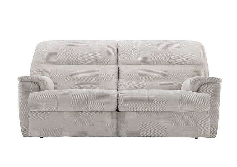 Watson 3 Seater Fabric Recliner Sofa in C008 Checkers Putty on Furniture Village