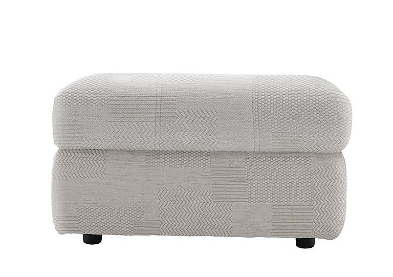 Watson Fabric Storage Footstool in C008 Checkers Putty on Furniture Village
