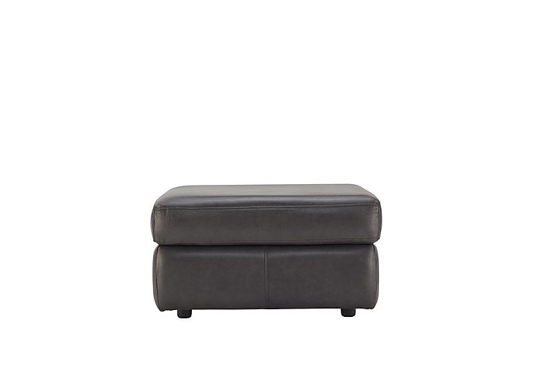 Watson Leather Storage Footstool in N834 Dallas Slate on Furniture Village