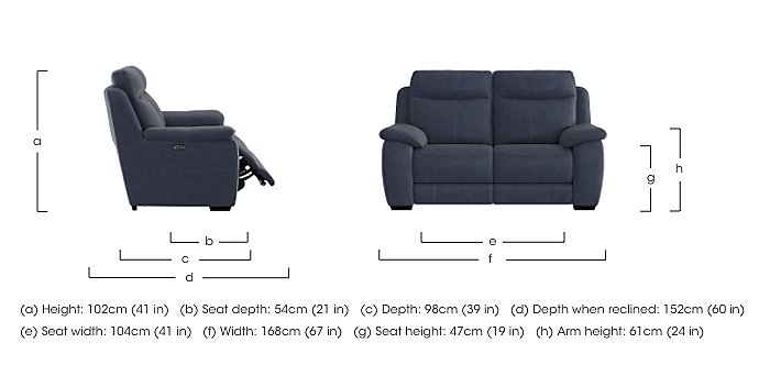 Starlight Express 2 Seater Fabric Recliner Sofa in  on Furniture Village