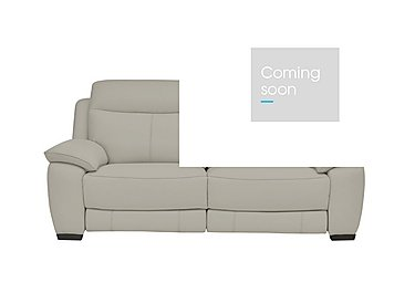 Starlight Express 3 Seater Leather Recliner Sofa in Bv-946b Silver Grey on Furniture Village