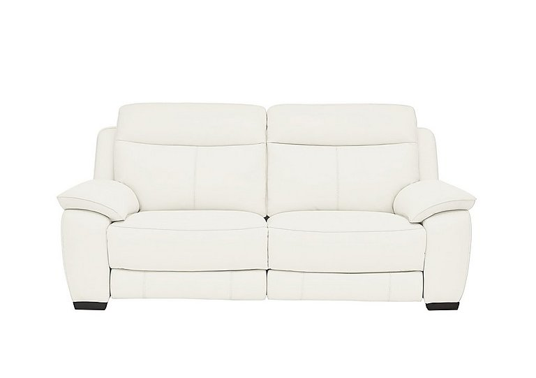 Starlight Express 3 Seater Leather Recliner Sofa in Nc-744d Star White on Furniture Village