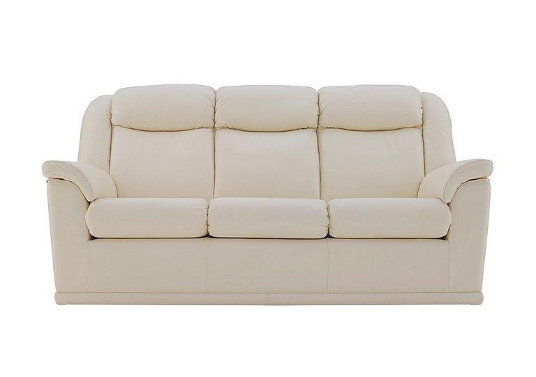 Milton 3 Seater Leather Sofa in P231 Capri Stone on Furniture Village