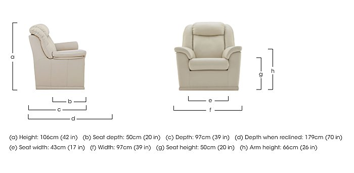 Milton Leather Recliner Armchair in  on Furniture Village