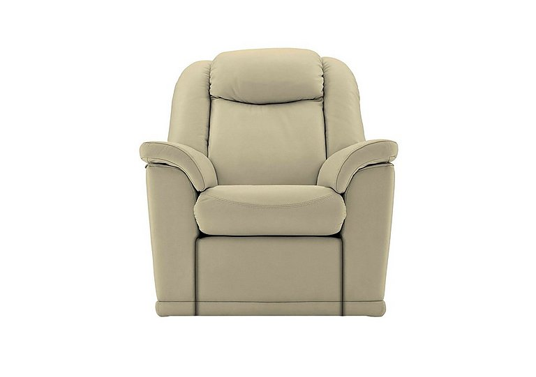 Milton Leather Recliner Armchair in P231 Capri Stone on Furniture Village