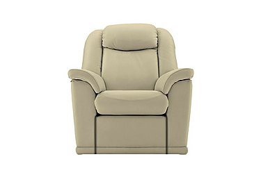 Milton Leather Recliner Armchair in P231 Capri Stone on Furniture Village