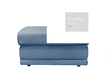 Milton Fabric Storage Footstool in A086 Boucle Denim on Furniture Village