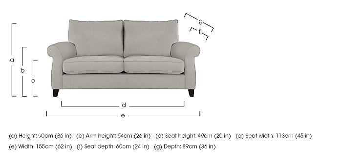 Sahara 2 Seater Fabric Sofa in  on Furniture Village
