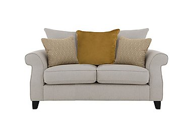 Sahara 2 Seater Fabric Pillow Back Sofa in Denbeigh Ercu Dark Feet on Furniture Village