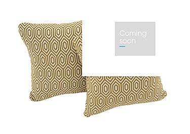 Sahara Pair of Fabric Scatter Cushions in Octave Ochre on Furniture Village