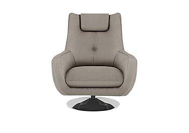 Sanza Fabric Swivel Armchair in Bfa-Raf-R946 Silver Grey on Furniture Village