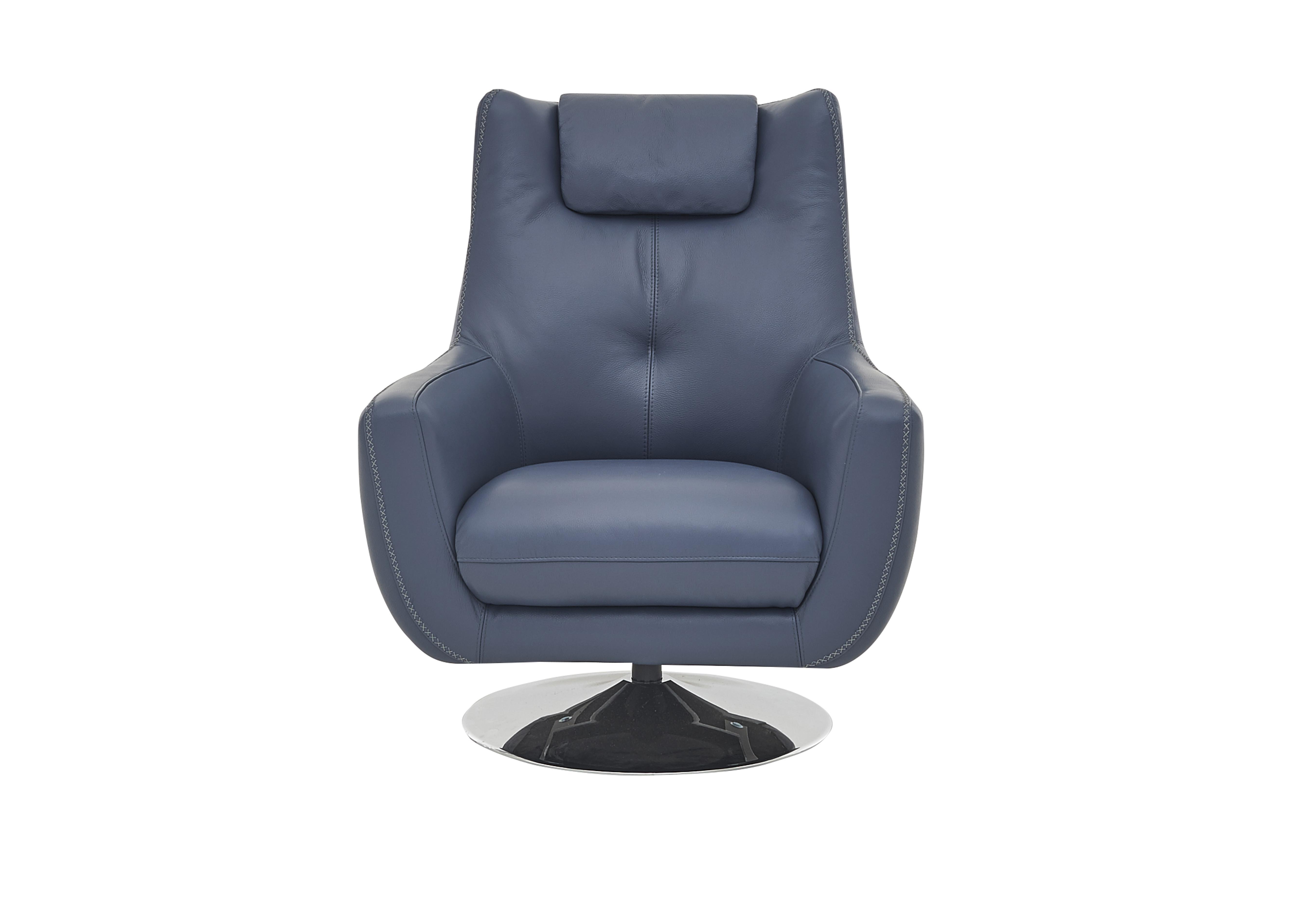 Sanza Leather Swivel Armchair World of Leather Furniture Village