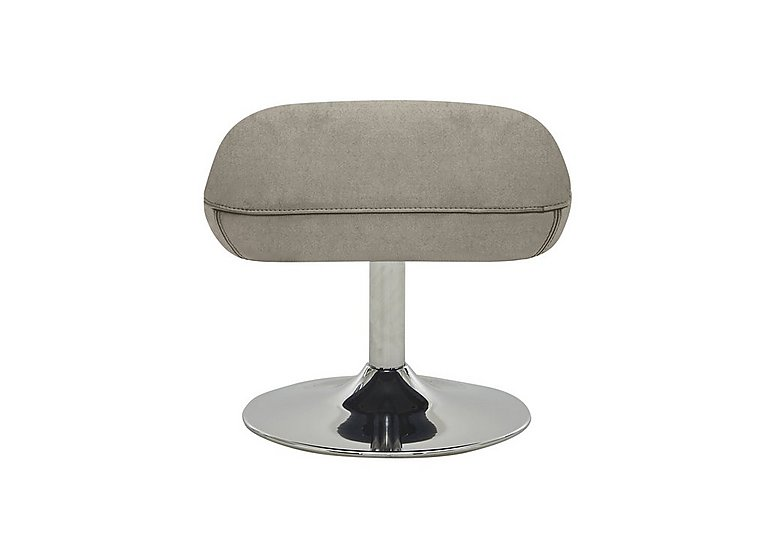 Sanza Fabric Footstool in Bfa-Raf-R946 Silver Grey on Furniture Village