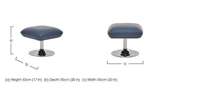 Sanza Leather Footstool in  on Furniture Village