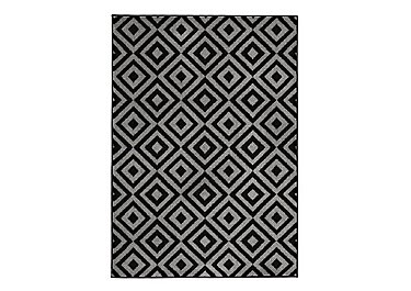 Matrix Rug in Black on Furniture Village