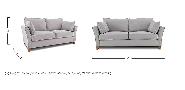 High Street Bond Street 4 Seater Fabric Sofa in  on Furniture Village
