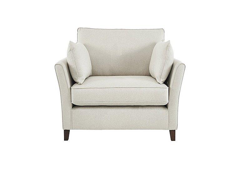 High Street Bond Street Fabric Armchair in Denbigh Ecru on Furniture Village