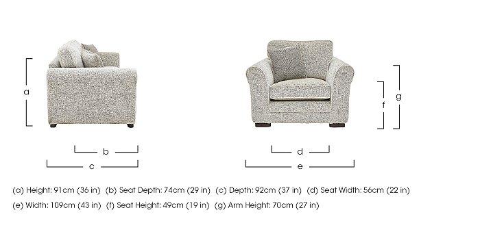 Devlin Fabric Armchair in  on Furniture Village