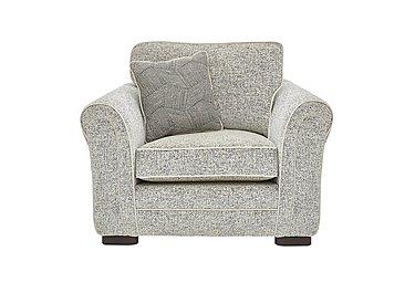 Devlin Fabric Armchair in Buzz Plain Marble Dk on Furniture Village