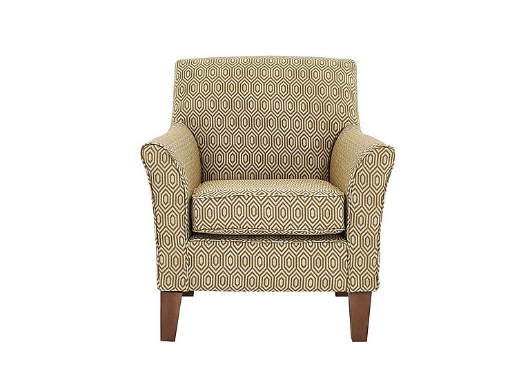 High Street Fabric Accent Armchair in Octave Ochre on Furniture Village