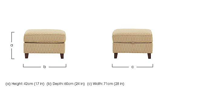High Street Fabric Footstool in  on Furniture Village