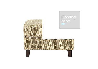 High Street Fabric Footstool in Octave Ochre on Furniture Village