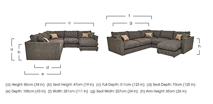 Nirvana Fabric Corner Sofa in  on Furniture Village