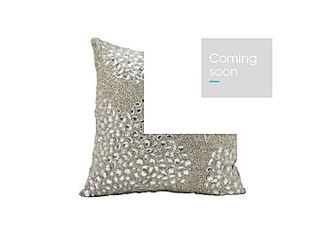 Beaded Cushion in Silver on Furniture Village