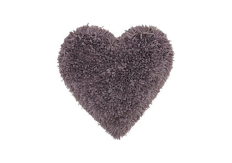 Heart Cushion in Lavender on Furniture Village