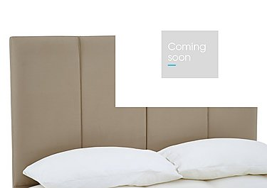 Cavendish Headboard in Sapore Camel on Furniture Village