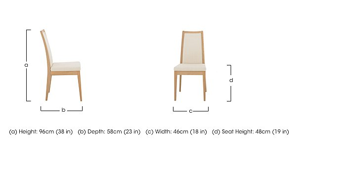 Romana Padded Back Dining Chair in  on Furniture Village