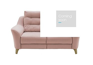 Pip 2 Seater Fabric Recliner Sofa in C243 Brush Rose on Furniture Village